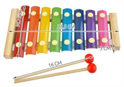 Colourful glockenspiel for kids – wooden + 2 mallets  #6078